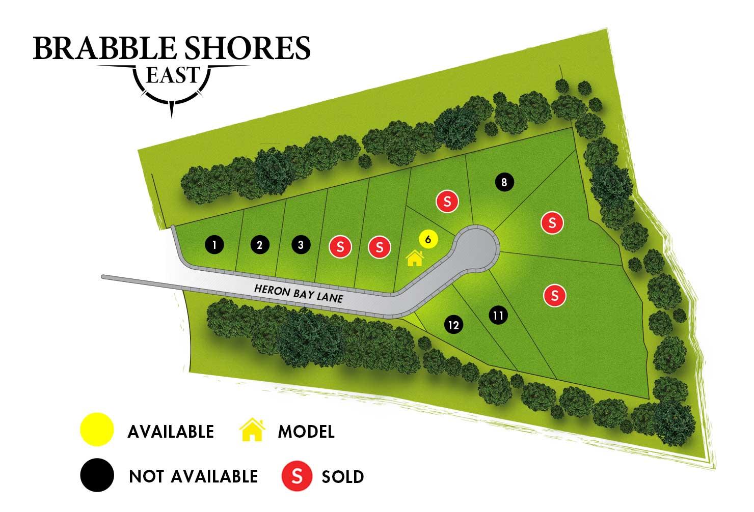 Brabble Shores East Map