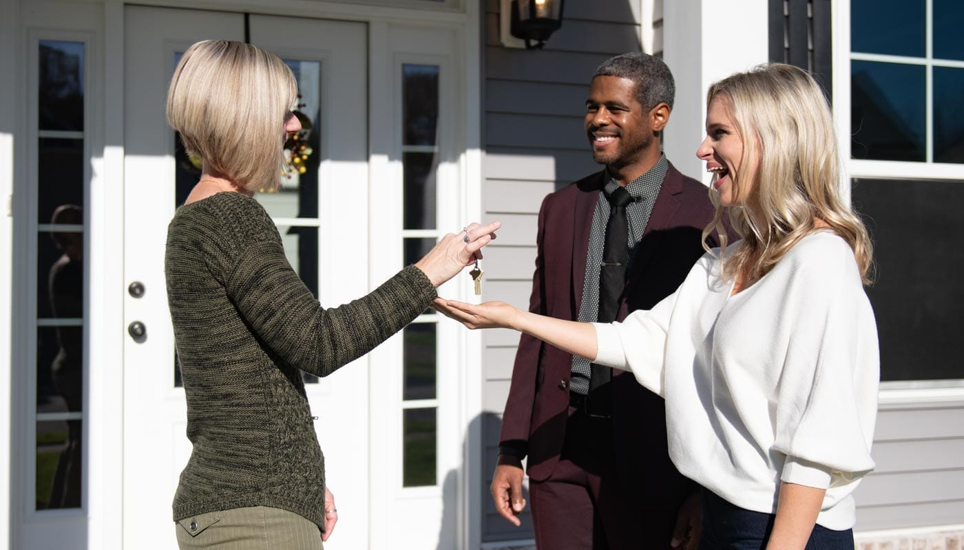 Handing over the keys to the client